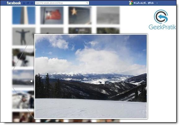 Facebook : Photo Zoom