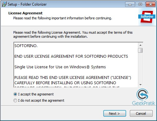 FolderColorizer Installation Etape 1