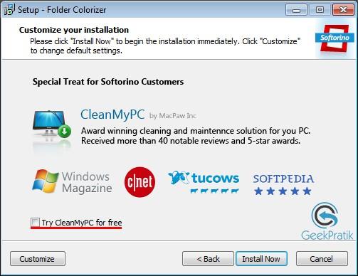 FolderColorizer Installation Etape 2
