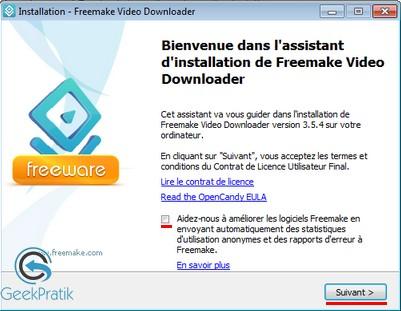 Freemake video downloader Installation 1