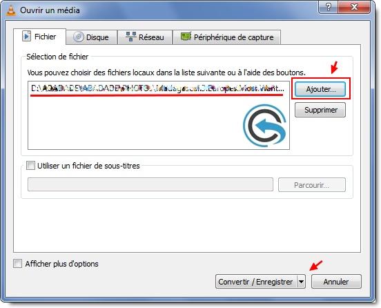 VLC Multimédia Player : Ajouter