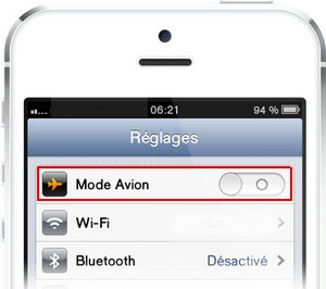 iPhone : Mode Avion