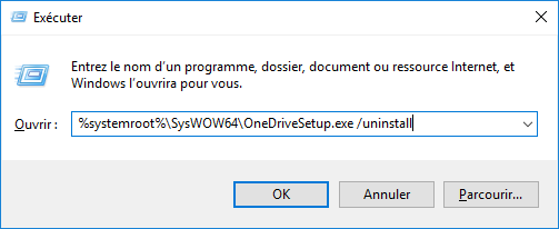 désinstaller OneDrive sous Windows 10