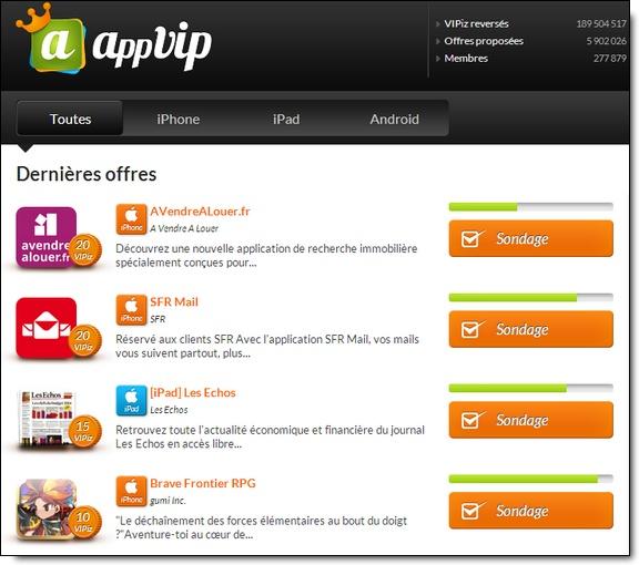 AppVip : Interface