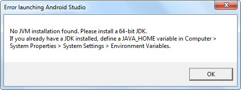 Erreur Android Studio