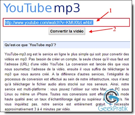 YouTube-Mp3 : Etape 1