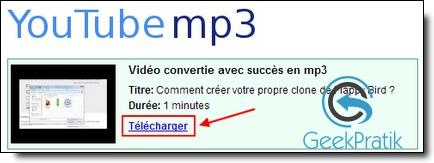 YouTube-Mp3 : Etape 3