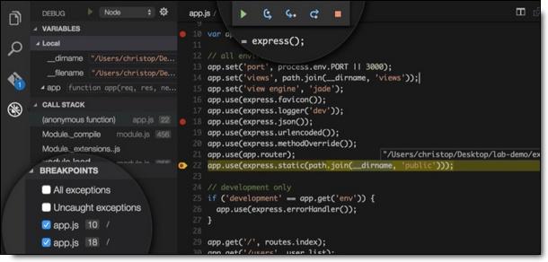 Interface : Visual Studio Code