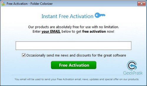 FolderColorize Free Activation