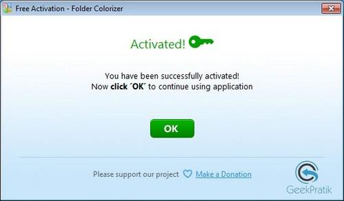 FolderColorize Activation
