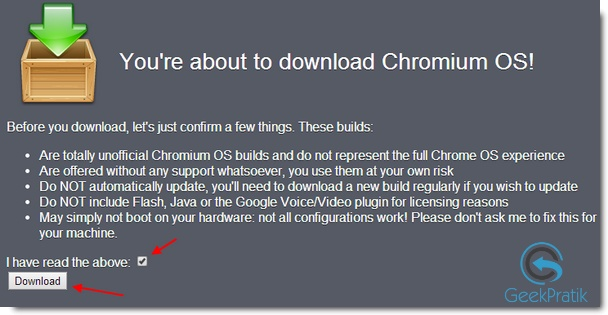Download :Chromium OS Vanilla