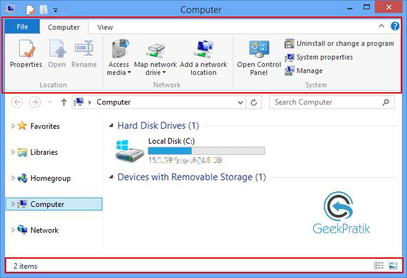 Windows 8 :Explorer