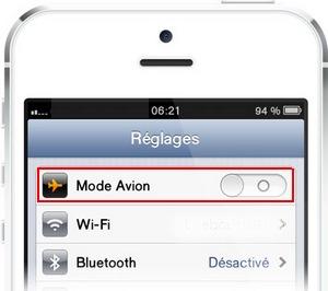 iPhone : Mode Avion
