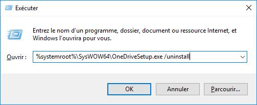 désinstaller OneDrive sous Windows 10